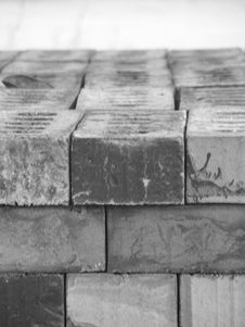 Black And White Bricks Royalty Free Stock Photo