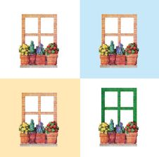 Free 4 Kinds Of Window Stock Photos - 8289443