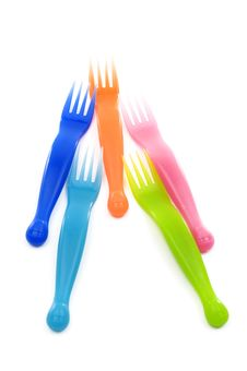 Free Plastic  Forks Royalty Free Stock Images - 8289819