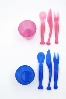 Plastic  Dishs Royalty Free Stock Photography