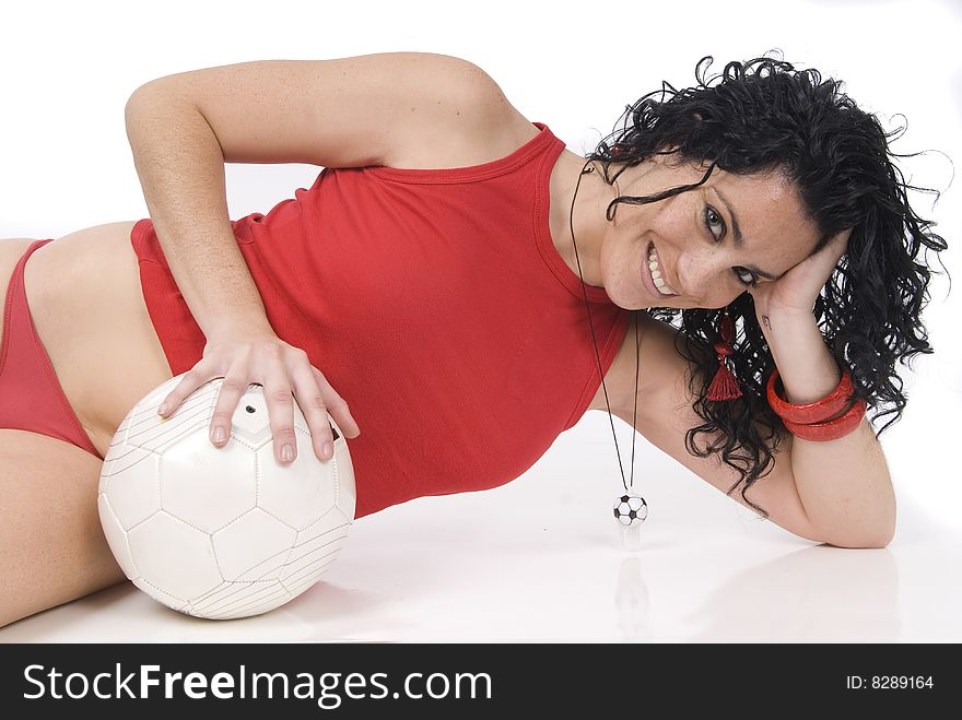Sexy soccer or football player, coach or referee