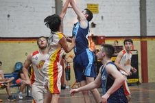 Free Basketball Game On Court Stock Image - 82892651
