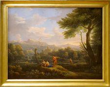 """Free """"Paysage D Italie"""", Jan Frans Bloemen, Dit L Orrizonte. Musée Du Petit Palais, Paris. Royalty Free Stock Photos - 82893168"""
