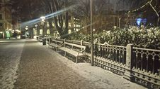 Free Snow Covered Sidewalk And Street Royalty Free Stock Photo - 82893185