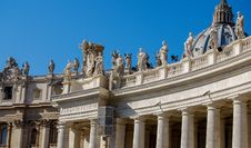 Free St. Peter S Square Sculptures, Vatican City Stock Photography - 82893702