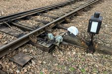 Free Hand-operated Railroad Switch Stock Photography - 82894622