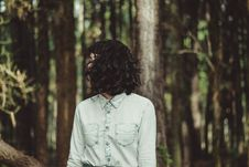 Free Mystery Woman Emerging From Forest Stock Image - 82896911