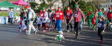 Free Parade Of Christmas Elves Stock Image - 82897471