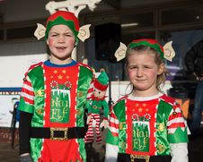 Free Kids In Elf Costumes Royalty Free Stock Photography - 82897977