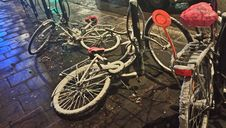 Free Snow Covered Bicycles On Streets Stock Image - 82898951