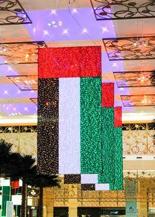 Free UAE Flag At Mardib City Center Stock Images - 82899494