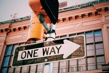 Free One Way Road Sign Stock Image - 82899691