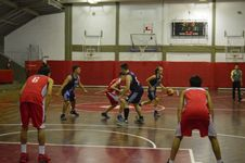 Free Basketball Game In Gym Stock Photos - 82899823