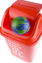 Free Recycling With Globe Royalty Free Stock Photos - 8291568
