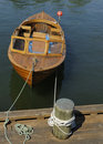Free Small Boat Tied To Dock Stock Images - 8292704