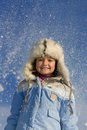Free Cute Little Girl Surrounded By Snowflakes Royalty Free Stock Images - 8297519
