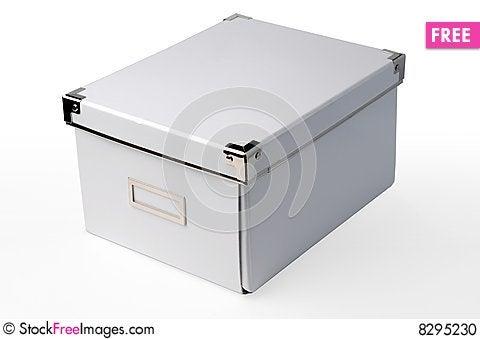 White Cardboard Storage Box