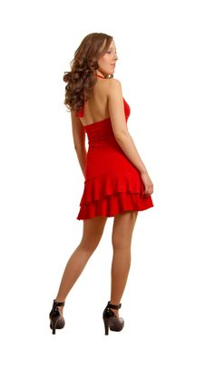 Free Sexual Girl In The Red Royalty Free Stock Photography - 8290557