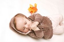 Free Baby With Teddy Royalty Free Stock Photography - 8290767