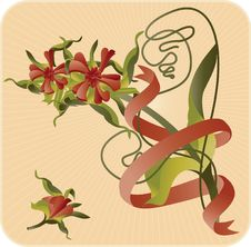 Vector Fantasy Flower Royalty Free Stock Photos