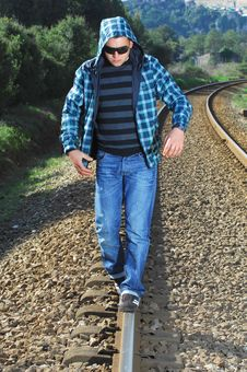 Free Men Waiting For The Train Royalty Free Stock Photos - 8291048