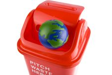 Free Recycling With Globe Stock Photography - 8291392