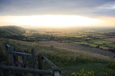 Free Devils Dyke Sunset Royalty Free Stock Image - 8291636
