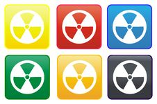 Free Radioactive Web Button Royalty Free Stock Images - 8292099