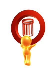 Free Recycle Bin Icon Symbol Stock Images - 8293314