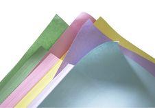 Pastel Paper Arrangement Royalty Free Stock Images