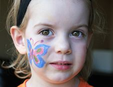 Free Butterfly Face Painting Stock Images - 8293724