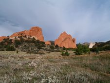Free Garden Of The Gods--Panorama Stock Photo - 8293920