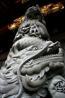 Free Dragon Column Royalty Free Stock Photography - 8293987