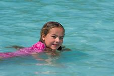 Free Little Girl Swimming Stock Photos - 8294683