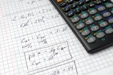 Free Calculation And Calculator Royalty Free Stock Image - 8295136