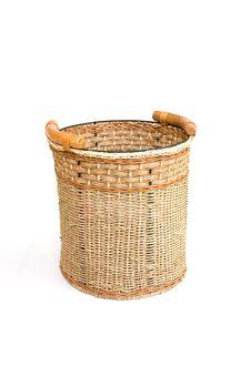Free Basket Isolated On White Royalty Free Stock Photos - 8295228