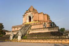 Free Thailand Wat Chedi Luang Royalty Free Stock Photography - 8295457