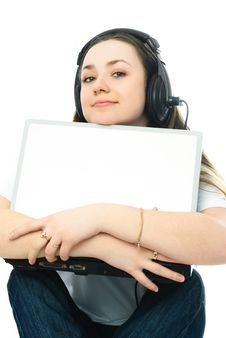 Free Young Woman With A Laptop Royalty Free Stock Photo - 8295825