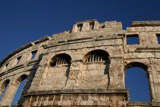 Amphitheater In Pula, Croatia 2 Stock Image