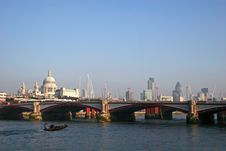 Free View Along River Thames Stock Photo - 8296240