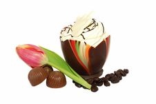 Free Chocolate Egg And Sweets Royalty Free Stock Images - 8296549