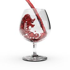 Free Red Wine Splashing Out Of A Glass. Royalty Free Stock Image - 8297106
