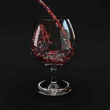 Free Red Wine Splashing Out Of A Glass. Royalty Free Stock Photography - 8297137