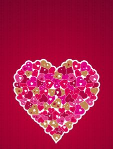 Free Pink Heart, Vector Royalty Free Stock Images - 8297289