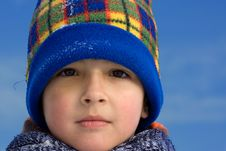 Free Cute Boy Winter Portrait Royalty Free Stock Images - 8297359