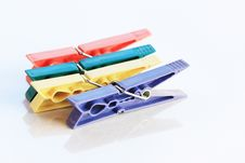 Free Four Clothespin Stock Image - 8297401