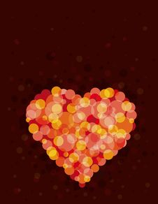 Red Heart, Vector Royalty Free Stock Photography