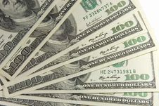 Bunch Of One-hundred Dollar Bills Royalty Free Stock Photo