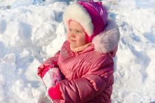 Free Pretty Little Girl In Winter Outerwear. Stock Photos - 8298533