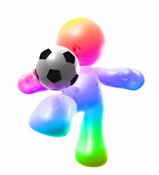 Free Colorful Soccer Guy Royalty Free Stock Image - 8298646